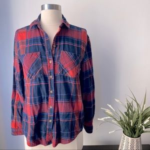 Urban Outfitters BDG Red Plaid Button Down